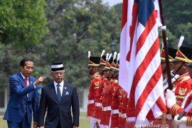 Presiden Jokowi sambut kedatangan Raja Malaysia di Istana Bogor