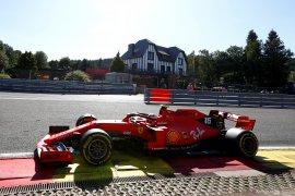 Sesi latihan GP Belgia didominasi Duo Ferrari