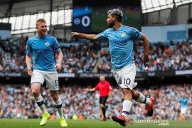 Man City menang telak 4-0 atas Brighton, Aguero  sumbang dua gol