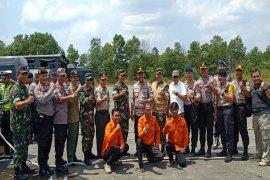 Tim Asistensi dan Supervisi Mabes Polri cek kesiapan penanggulangan karhutla di Kalsel