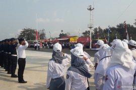 Peserta SMN Sultra ikuti upacara peringatan Kemerdekaan RI di Mentok (Video)