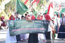 Ribuan santri di Kediri pawai taaruf peringati Tahun Baru Islam