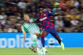 Ansu Fati bangga catat sejarah jadi pencetak gol termuda La Liga