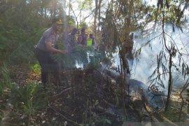 Aparat coba padamkan kebakaran hutan Seked, Kintamani