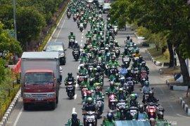 Ribuan personel keamanan dikerahkan kawal demo ojol di Istana Merdeka
