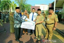 Bank Kalsel serahkan bantuan mobil jenazah untuk  Masjid Muhammadiyah