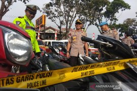 Polres Garut sita ratusan kendaraan bermotor pelanggar peraturan lalu lintas