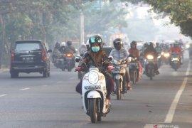 Kabut asap berkurang serang Kota Banjarmasin
