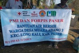 PMI Paser Salurkan Bantuan Air Bersih ke Desa Muara Adang