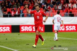 Swiss lumat Gibraltar, Denmark imbang Georgia di grup G  kualifikasi Piala Eropa 2020