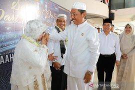 Jamaah haji kloter 14 tiba di Kota Seribu Sungai