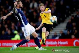 De Bruyne tampil sempurna, Belgia hajar Skotlandia empat gol tanpa balas