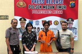 Pedagang ayam penyet di Medan diringkus polisi