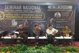Unja gelar seminar riset dalam pengembangan hukum nasional