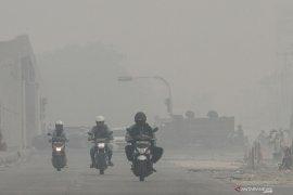 Sebulan berlalu, Pekanbaru masih terus diselimuti kabut asap karhutla