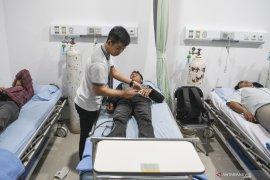 Posko pengungsian PKS rawat inap 204 korban asap