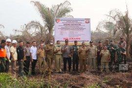 Polisi segel dua lahan kebun sawit