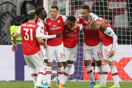 Arsenal tundukkan Frankfurt, Willock dan Saka sumbang gol