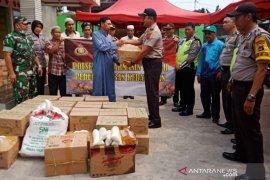 Polsek Banjarmasin Tengah peduli korban kebakaran