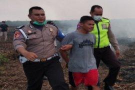 Seorang pelaku pembakar lahan tertangkap tangan polisi