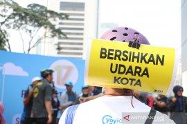Minggu pagi udara Jakarta terpolusi keempat dunia