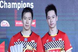 Marcus/Kevin raih gelar juara ganda putra bulutangkis China Open