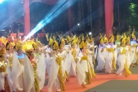 """Malam puncak Harjad ke-493 Kota Banjarmasin meriah """"dipenuhi"""" penari"""