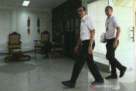 Usai ketemu Jokowi, Yasonna dan Moeldoko bungkam terkait opsi penerbitan Perppu UU KPK