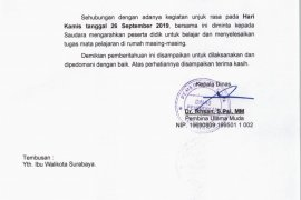 Ada demo mahasiswa, Pemkot Surabaya liburkan siswa TK, SD dan SMP
