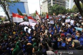 Aksi Unjuk Rasa Mahasiswa Kalsel