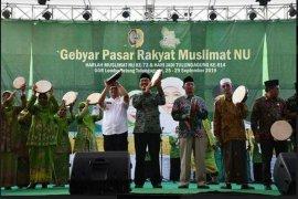 Bupati Tulungagung buka pasar rakyat Musliamt NU