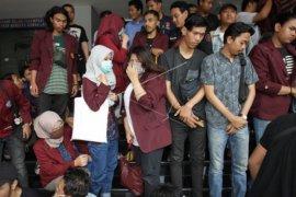 56 mahasiswa peserta demo akhirnya dibebaskan