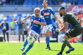 Liga Italia, Napoli menang tipis melawan  Brescia