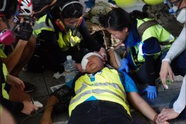 Liput demo, wartawan Indonesia kena peluru karet di Hong Kong