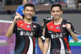 Ringkasan pertandingan Indonesia Masters, Fajar/Rian ke babak dua