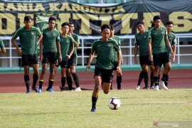 Timnas Indonesia U-22 rotasi pemain hadapi Yordania