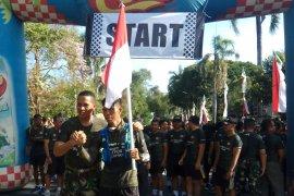 HUT TNI, Serka Dewa Astawa berlari sejauh 374 Km