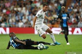 Real Madrid butuh kartu merah untuk menghindari kekalahan saat melawan Brugge