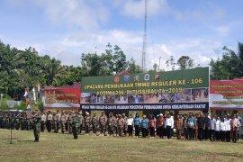 TMMD di batas Indonesia-Malaysia wilayah Kabupaten Kapuas Hulu dimulai