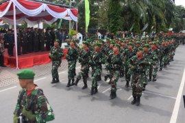 Drama kolosal iringi peringatan HUT TNI di  Deliserdang