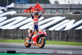 Marquez menang duel lawan Quartararo di Thailand