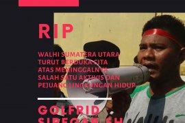 Sempat hilang, aktivis Walhi Sumut Golfrid Siregar meninggal dunia