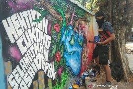 Prajurit Yonif 611/Awang Long juara lomba grafiti
