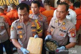 35 pelaku penyalahgunaan narkoba dibekuk Polres Bekasi
