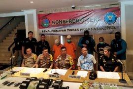 Aparat Polda Jawa Barat temukan 13 kg sabu dibungkus plastik teh di Cianjur