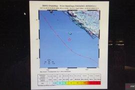 Gempa magnitudo 5,4 landa barat daya Enggano Bengkulu
