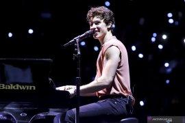 Mainkan lagu Coldplay, Shawn Mendes bikin merinding