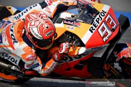 Marquez diselamatkan teknologi baju balap dari kecelakaan di GP Thailand