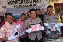 Lima tersangka pengedar narkoba,  ditangkap Polres Sampang