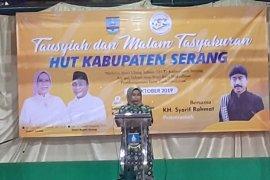 KH.Syarif Rohmat berikan motivasi pada HUT Kabupaten Serang
